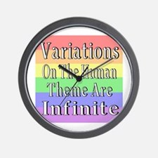 Variations On Humanness Wall Clock