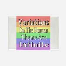 Variations On Humanness Rectangle Magnet (10 pack)