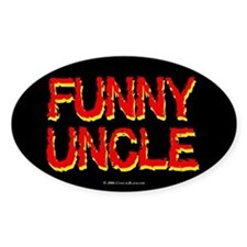Funny Uncle Oval Decal