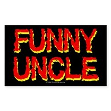 Funny Uncle Rectangle Decal