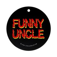 Funny Uncle Ornament (Round)
