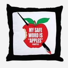 Castle: Apples Throw Pillow