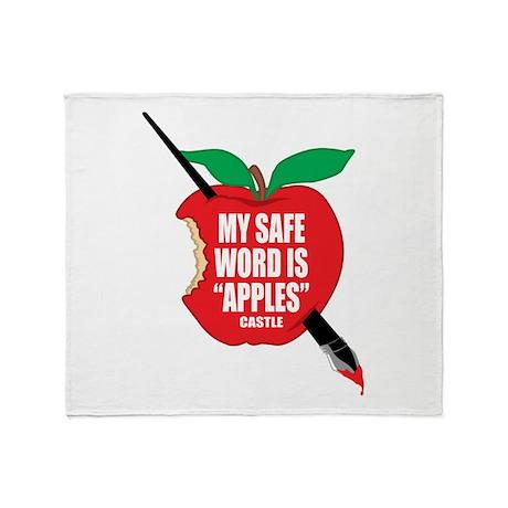 Castle: Apples Throw Blanket