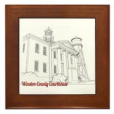 Winston County Alabama Courthouse Framed Tile