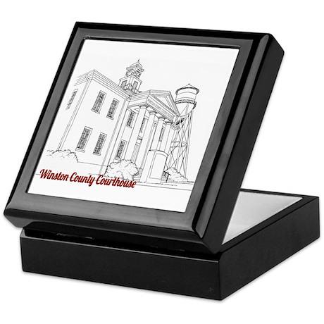 Winston County Alabama Courthouse Keepsake Box