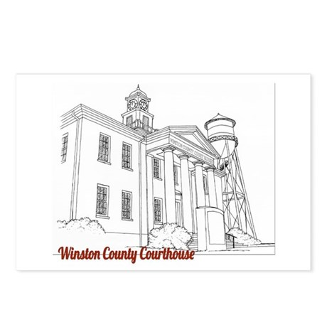 Winston County Alabama Courthouse Postcards (Packa