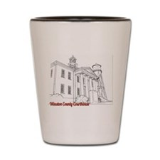 Winston County Alabama Courthouse Shot Glass