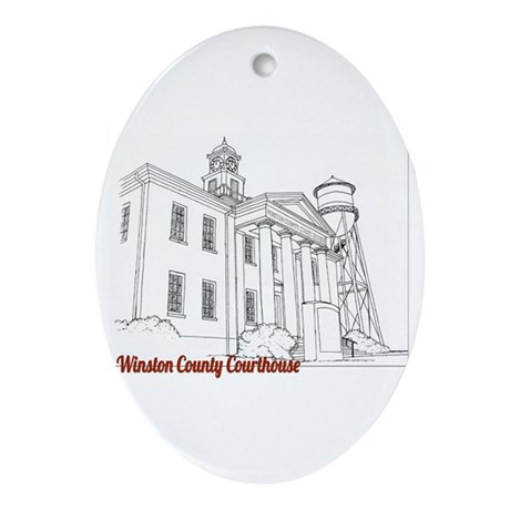 Winston County Alabama Courthouse Ornament (Oval)
