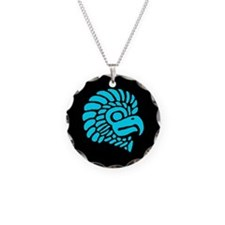 American Indian Eagle Necklace Circle Charm