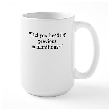 Admonitions Large Mug