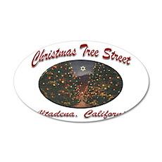 Christmas Tree Street 22x14 Oval Wall Peel