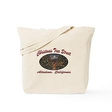Christmas Tree Street Tote Bag