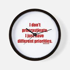 I don't procrastinate... Wall Clock