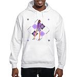 purple diamond Hooded Sweatshirt
