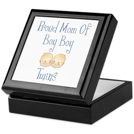 Proud Mom of Boy Twins Keepsake Box