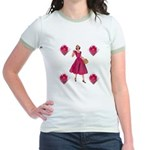 Red Flowers Jr. Ringer T-Shirt