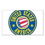 US of A Sticker (Rectangle 10 pk)
