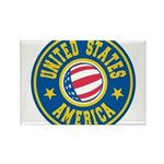 US of A Rectangle Magnet (10 pack)
