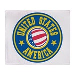 US of A Throw Blanket