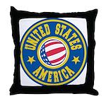 US of A Throw Pillow
