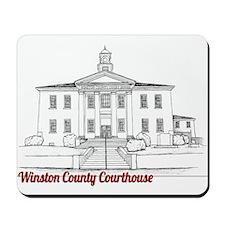 Winston County Alabama Courthouse Mousepad