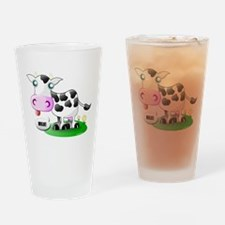 Cute Cow Milk Pint Glass