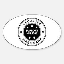 Legal Marijuana Support HR2306 Decal