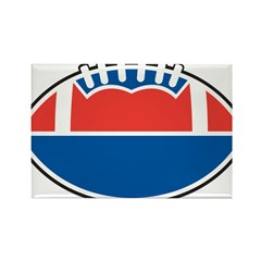 Red White and Blue Football Rectangle Magnet (10 p
