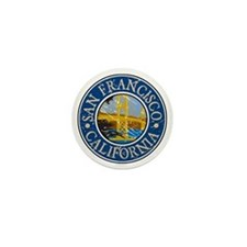 San Francisco California Mini Button