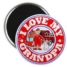 I Love my Grandpa (Fire) Magnet
