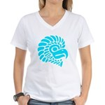 Turquoise Blue Native Eagle Silhouette Women's V-N