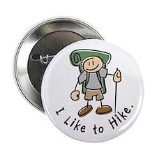 """I Like To Hike (Green) 2.25"""" Button"""