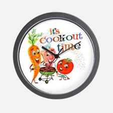 Cook-Out Time Wall Clock