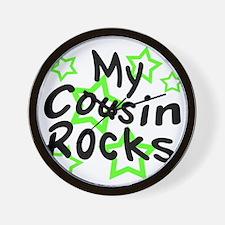 My Cousin Rocks Wall Clock