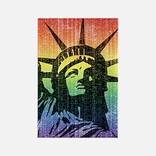 Rainbow Liberty 'Vintage' Rectangle Magnet