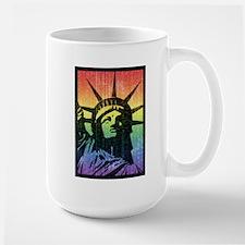 Rainbow Liberty 'Vintage' Mug