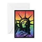 Liberty vintage gay pride Greeting Cards (20 Pack)
