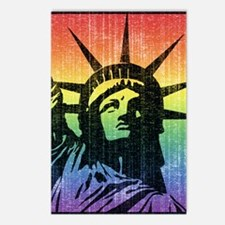Rainbow Liberty 'Vintage' Postcards (Package of 8)