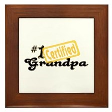 Certified #1 Grandpa Framed Tile