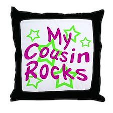 My Cousin Rocks Throw Pillow