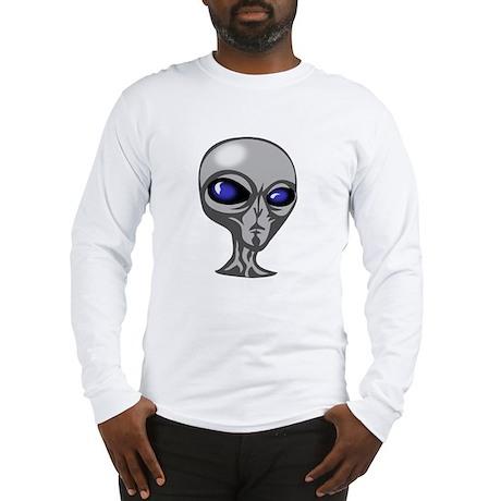 Grey Alien Head Long Sleeve T-Shirt
