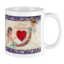 Sweet Cherubs and Violets Small Mug