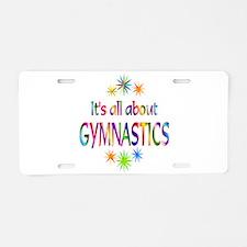 Gymnastics Aluminum License Plate