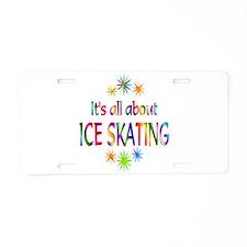 Ice Skating Aluminum License Plate