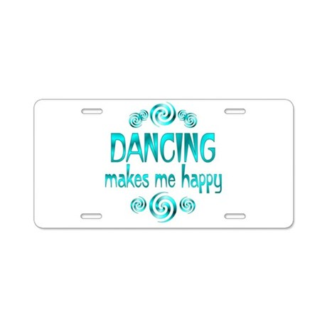 Dancing Aluminum License Plate