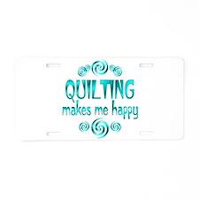 Quilting Aluminum License Plate