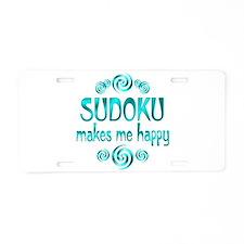 Sudoku Aluminum License Plate