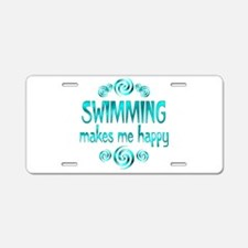 Swimming Aluminum License Plate