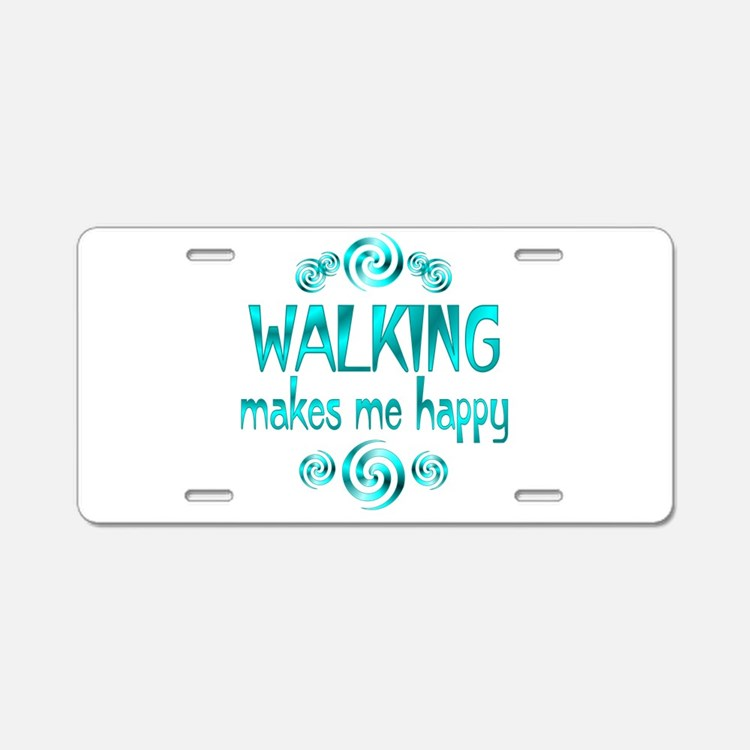 Walking Aluminum License Plate