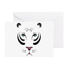 White Tiger Greeting Cards (Pk of 10)